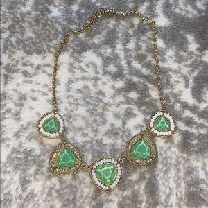 Green and white necklace